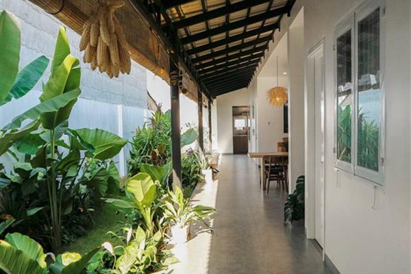 Nhà 7,5x30 ở ngoại ô Tây Ninh, thiết kế mở và gần gũi với thiên nhiên