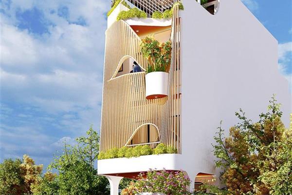 Ngôi nhà phố được thiết kế với ý tưởng không gian mở.