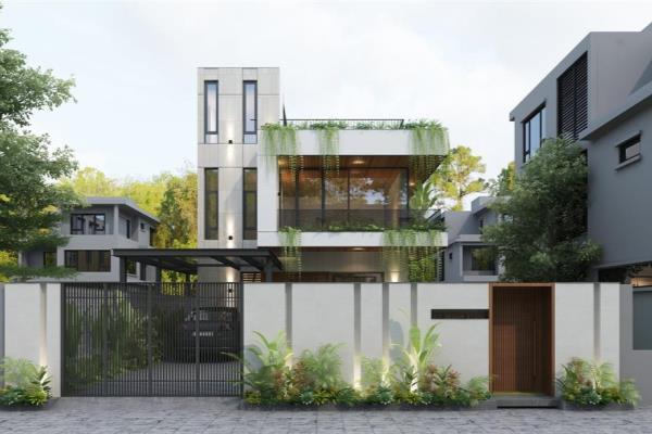 Kiến trúc hiện đại, đơn giản, tập trung xử lý các vấn đề công năng, ánh nắng, thông gió