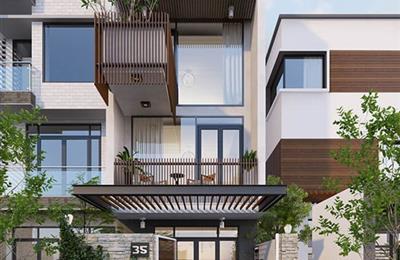 Vài mẫu nhà phố thiết kế hiện đại 2021
