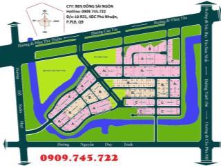 Bán đất dự án Bách Khoa, Q9, trục đường chính giá 55tr/m2, diện tích 182m2