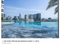 Chính chủ bán căn hộ millennium 3pn, dt 106m2, view sông, full nội thất đẹp ở ngay. giá chỉ 7,5 tỷ