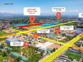Nhà tôi cần tiền bán lỗ lô đất 100m2 trung tt la hà, đối diện quảng trường trung tâm huyện tư nghĩa