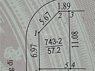 Chính chủ bán lô đất góc đẹp nhất đất dịch vụ vân canh số 7432 có diện tích 57.2m2, sđ chính chủ