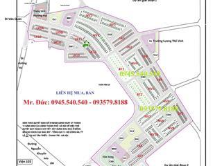 Chuyên bán các căn liền kề, nhà vườn, biệt thự dự án tổng cục 5 tân triều.  mr đức 0945.540.***