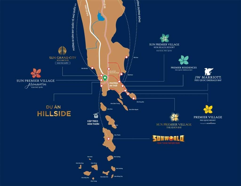 Vị trí dự án Hillside Địa Trung Hải